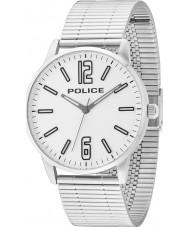Police 14765JS-04M Mężczyźni Esquire Srebrna bransoleta ze stali zegarek