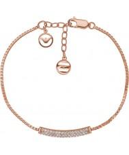 Emporio Armani EG3260221 Panie stelle czysta Pave różowe złoto Bransoletka Sterling Silver
