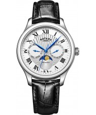 Rotary GS05065-01 zegarki męskie moonphase czarny zegarek chronograf