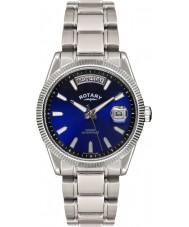 Rotary GB02660-05 Męskie zegarki Havana niebieski srebrny zegarek