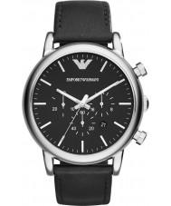 Emporio Armani AR1828 Klasyczne męskie chronograf czarny zegarek