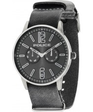 Police 14766JSU-61 Mężczyźni Esquire x szary skórzany pasek zegarka
