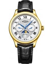 Rotary GS05066-01 zegarki męskie moonphase czarny zegarek chronograf