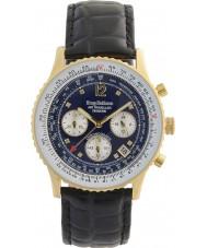 Krug-Baumen 400208DS Męski zegarek diamentowy dla podróżujących samolotem