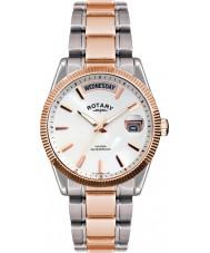 Rotary GB02662-06 zegarki męskie Havana srebra wzrosła złoty zegarek