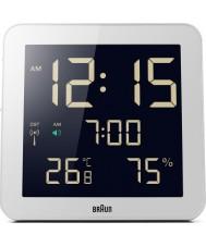Braun BNC014WH-RC Globalny sterowane radiem zegar ścienny - biały