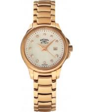 Rotary LB90120-41 Panie les originales pierwiosnka wzrosła złoty zegarek