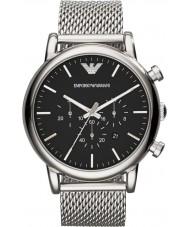 Emporio Armani AR1808 Klasyczne męskie chronograf Srebrna bransoleta zegarka mesh