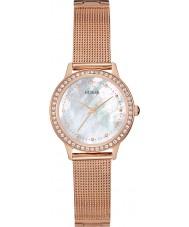Guess W0647L2 Chelsea Ladies wzrosła złoty zegarek siatkową