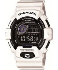 Casio GR-8900A-7ER Mężczyźni g-shock czas światowy biały zegarek zasilany energią słoneczną