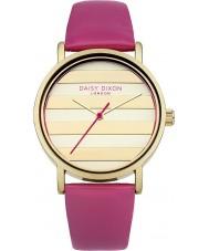 Daisy Dixon DD009PG mak panie złoty zegarek różowy skórzany pasek