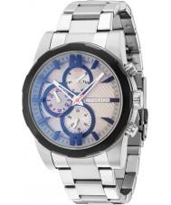 Police 14541JSTB-13M Męska matchcord srebrna bransoleta ze stali zegarek