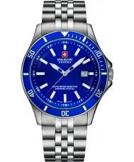 Swiss Military 6-5161-2-04-003 Mężczyźni flagowy srebro stal bransoletka zegarek