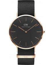 Daniel Wellington DW00100148 Klasyczne czarne Cornwall 40mm Zegarek