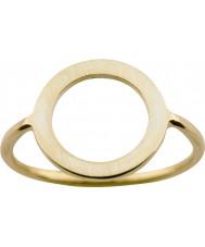 Nordahl Jewellery 125211-58 Panie złoty pierścionek pozłacany - wielkość q