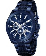 Festina F16887-1 Mężczyźni stali Prestige niebieski zegarek chronograf