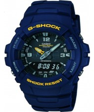 Casio G-100-2BVMUR Mężczyźni g-shock zegarek żywicy niebieski pasek