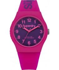 Superdry SYG164PV Panie miejskich różowy pasek silikonowy zegarek