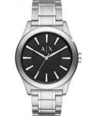 Armani Exchange AX2320 Mężczyźni ubierają Srebrna bransoleta ze stali zegarek