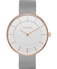 Skagen SKW2583 Gitte Panie srebrne bransoletki siatki stalowej zegarek