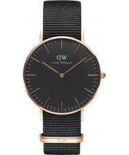 Daniel Wellington DW00100150 Klasyczne czarne Cornwall 36mm Zegarek