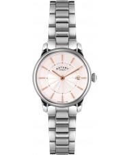 Rotary LB02770-07 zegarki damskie locarno srebrny zegarek stalowy