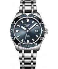 Rotary GB90168-05 Męskie zegarki Legacy srebro stal bransoletka zegarek