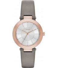 DKNY NY2296 Panie Stanhope 2.0 matowy szary skórzany pasek zegarka