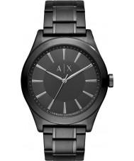 Armani Exchange AX2322 Mens Sukienka czarna stalowa bransoletka zegarek