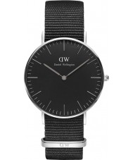Daniel Wellington DW00100151 Klasyczne czarne Cornwall 36mm Zegarek