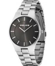 Police 14640MS-61M Mężczyźni blask srebra stalowa bransoletka zegarek