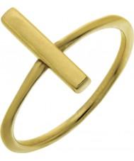 Nordahl Jewellery 125225-52 Ladies złota złocone pin ring - rozmiar L
