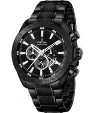 Festina F16889-1 Mężczyźni stali Prestige czarny zegarek chronograf