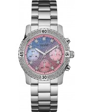 Guess W0774L1 Panie konfetti Srebrna bransoleta ze stali zegarek