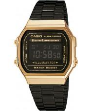 Casio A168WEGB-1BEF Kolekcja męska stal czarna bransoletka zegarek