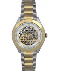 Rotary GB90515-10 Mężczyźni les originales jura srebrny złoty zegarek automatyczny
