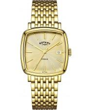 Rotary GB05308-03 Męskie zegarki Windsor szampana pozłacany zegarek