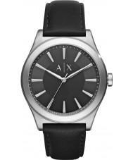 Armani Exchange AX2323 Mens Sukienka czarny skórzany pasek do zegarka