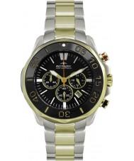 Rotary AGB00067-C-04 Mężczyźni AQUASPEED dwa tonu chronografu zegarek sportowy