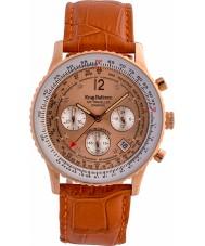 Krug-Baumen 400704DS Podróżnik Air diament pomarańczowy skórzany pasek zegarka
