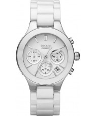 DKNY NY4912 Komory damskie białe ceramiczne bransoletka zegarek