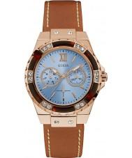 Guess W0775L7 Panie Limelight brązowy skórzany pasek zegarka