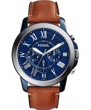 Fossil FS5151 Mężczyźni przyznają brązowy skórzany zegarek chronograf