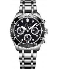 Rotary GB90170-04 Męskie zegarki spuścizna srebrny zegarek chronograf