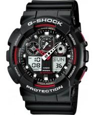 Casio GA-100-1A4ER Mężczyźni g-shock auto led czarny zegarek