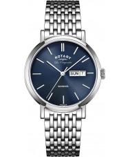 Rotary GB90153-05 Mężczyźni les originales stalowa bransoleta zegarka srebrna Windsor