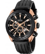 Festina F16900-1 Mężczyźni Prestige czarny skórzany zegarek chronograf