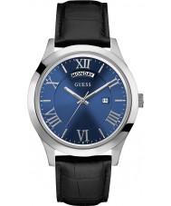 Guess W0792G1 Mężczyzna metropolita czarny skórzany pasek zegarka