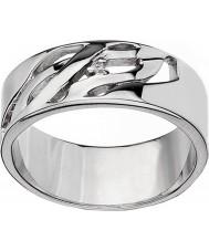 Hot Diamonds DR088-Q Panie arabeska srebrny pierścień, - wielkość Q