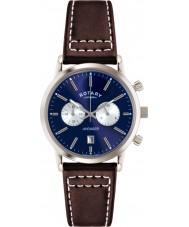 Rotary GS02730-05 Męskie Zegarki sportowe Avenger niebieski brązowy zegarek chronograf